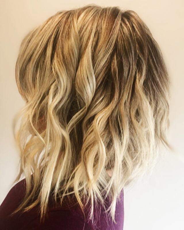Light hair curls