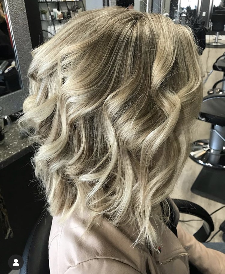 Curls added to woman hair